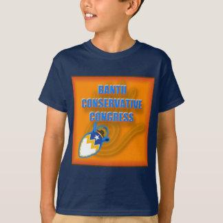 Logotipo conservador bantú del congreso playera