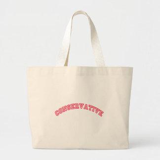 Logotipo conservador bolsa tela grande