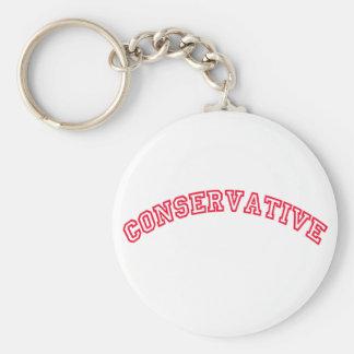 Logotipo conservador llavero redondo tipo pin