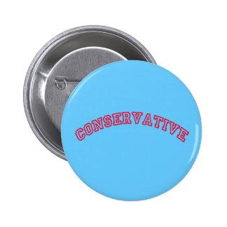 Logotipo conservador pin redondo de 2 pulgadas