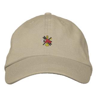 Logotipo contraincendios gorra bordada