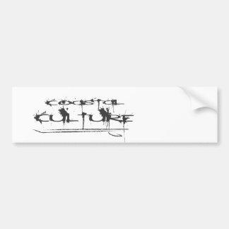 Logotipo costero de la cultura etiqueta de parachoque