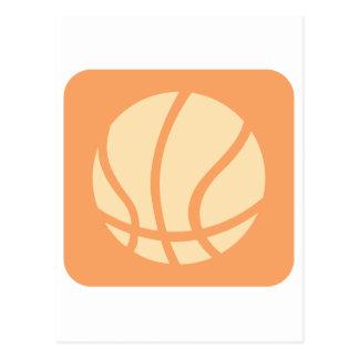 Logotipo creativo del baloncesto tarjetas postales