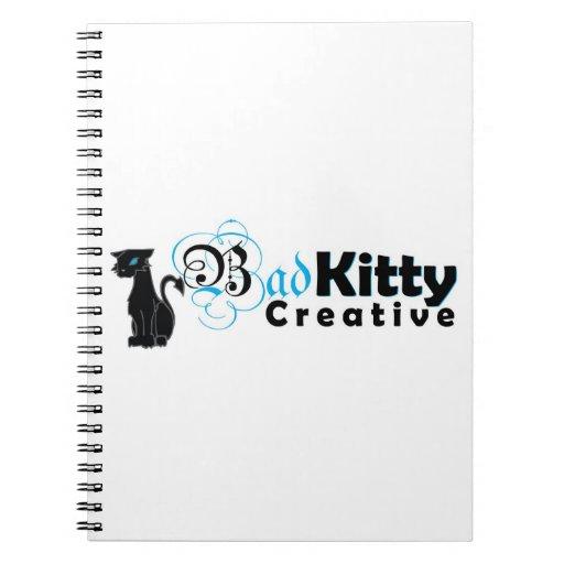 Logotipo creativo del mún gatito cuadernos