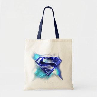 Logotipo cristalino Azul-Blanco del superhombre Bolsa Tela Barata