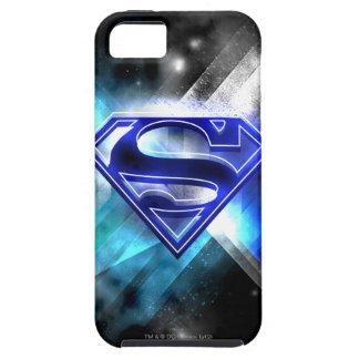 Logotipo cristalino Azul-Blanco del superhombre iPhone 5 Case-Mate Cárcasa