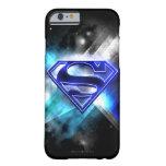 Logotipo cristalino Azul-Blanco del superhombre Funda De iPhone 6 Barely There