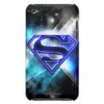 Logotipo cristalino Azul-Blanco del superhombre iPod Case-Mate Cárcasa