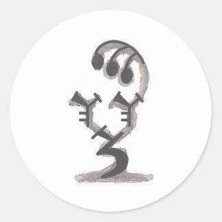 Logotipo cristalino del funcionario del Kismet Pegatina Redonda