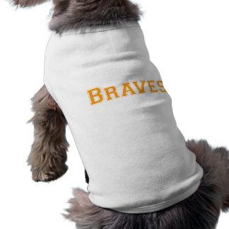 Logotipo cuadrado de Braves en naranja Playera Sin Mangas Para Perro