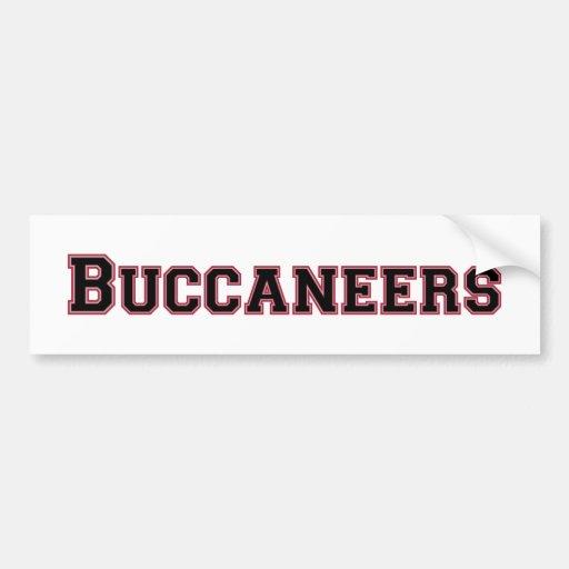 Logotipo cuadrado de Buccaneers en negro y rojo Pegatina Para Auto