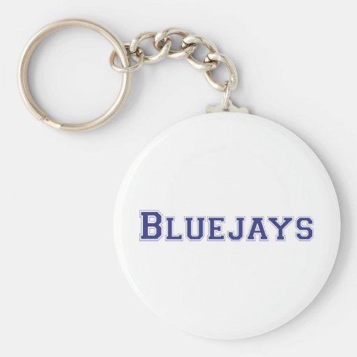 Logotipo cuadrado de las urracas en azul llavero redondo tipo pin