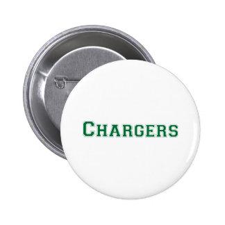 Logotipo cuadrado de los cargadores en verde pin redondo 5 cm
