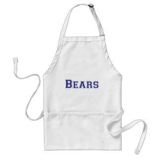 Logotipo cuadrado de los osos en azul delantales