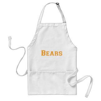 Logotipo cuadrado de los osos en naranja delantales