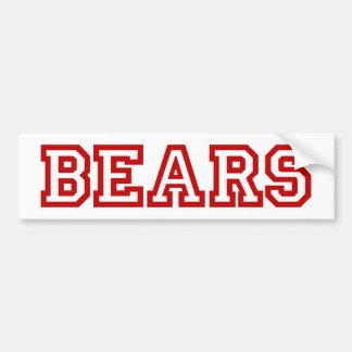 Logotipo cuadrado de los osos en rojo pegatina para auto