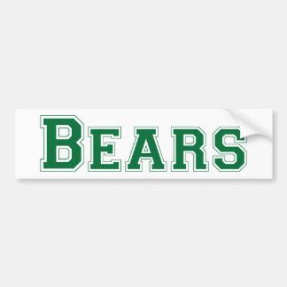 Logotipo cuadrado de los osos en verde pegatina para auto