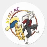 Logotipo de Akaelae Etiqueta Redonda