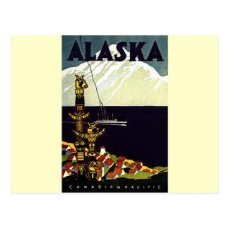 Logotipo de Alaskla del vintage Postal