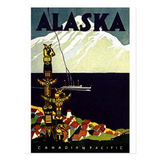 Logotipo de Alaskla del vintage Postales