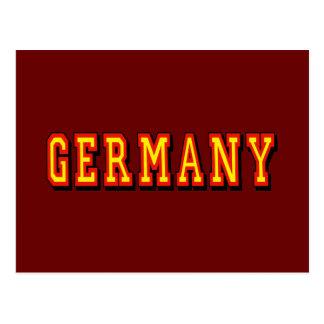 Logotipo de Alemania para las fans alemanas Tarjeta Postal