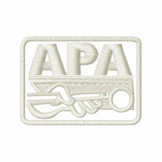 Logotipo de APA - crema Camiseta Polo Bordada