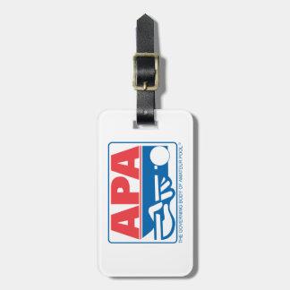 Logotipo de APA Etiqueta De Maleta