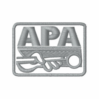 Logotipo de APA - gris Camiseta Polo Bordada