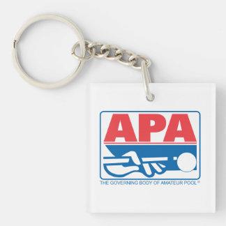Logotipo de APA Llavero Cuadrado Acrílico A Doble Cara