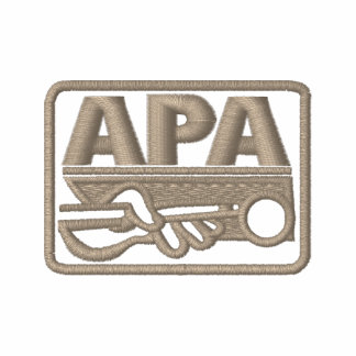 Logotipo de APA - moreno Camiseta Polo