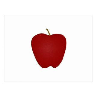 Logotipo de Apple red delicious Postal