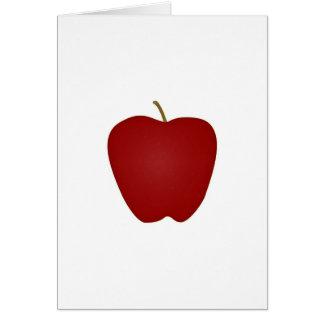 Logotipo de Apple red delicious Tarjeta De Felicitación