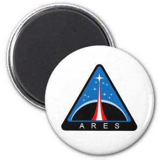 Logotipo de Ares del proyecto de la NASA Imán Redondo 5 Cm
