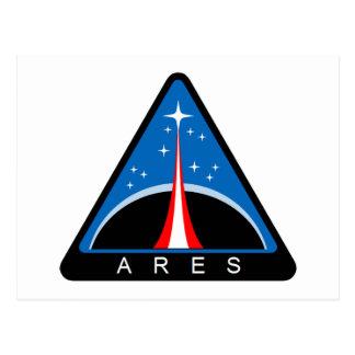 Logotipo de Ares del proyecto de la NASA Postales