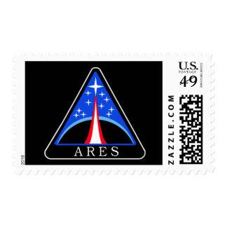Logotipo de Ares del proyecto de la NASA Franqueo