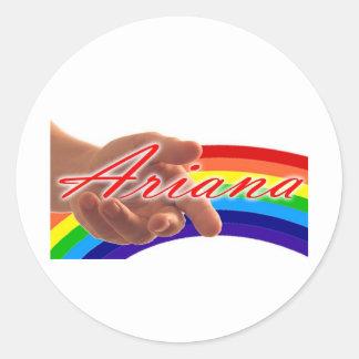 Logotipo de Ariana Pegatina Redonda