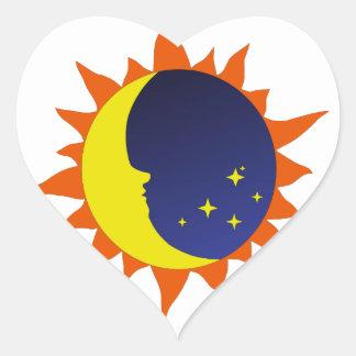 Logotipo de Astonomy Pegatina En Forma De Corazón