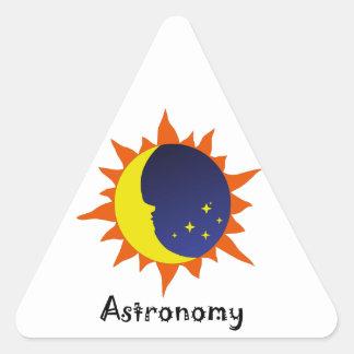 Logotipo de Astonomy Pegatina Triangular