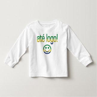 ¡Logotipo de Até! Colores de la bandera del Brasil Playera De Bebé