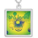 ¡Logotipo de Até! La bandera del Brasil colorea ar Joyerias Personalizadas
