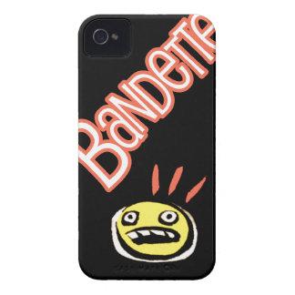 Logotipo de Bandette (con el botón de pánico) iPhone 4 Case-Mate Funda