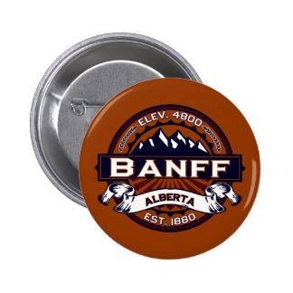 Logotipo de Banff vibrante Pin Redondo 5 Cm