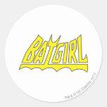 Logotipo de Batgirl Pegatina Redonda