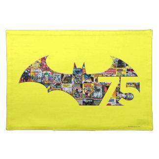 Logotipo de Batman 75 - cubiertas cómicas Manteles