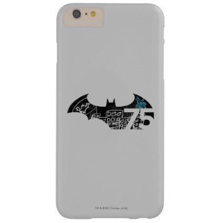 Logotipo de Batman 75 - pizarra Funda De iPhone 6 Plus Barely There