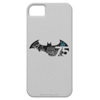 Logotipo de Batman 75 - pizarra Funda Para iPhone 5 Barely There