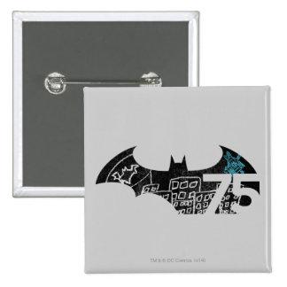 Logotipo de Batman 75 - pizarra Pin Cuadrado