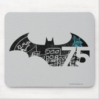 Logotipo de Batman 75 - pizarra Alfombrilla De Ratón