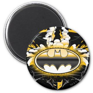 Logotipo de Batman con los coches Imán Redondo 5 Cm