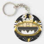 Logotipo de Batman con los coches Llavero Personalizado
